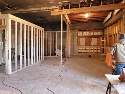 Interior framing on January 6th
