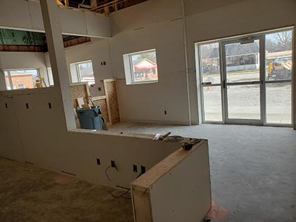 Liberty Construction - inside drywall