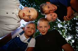 Photo of five brothers looking at the camera