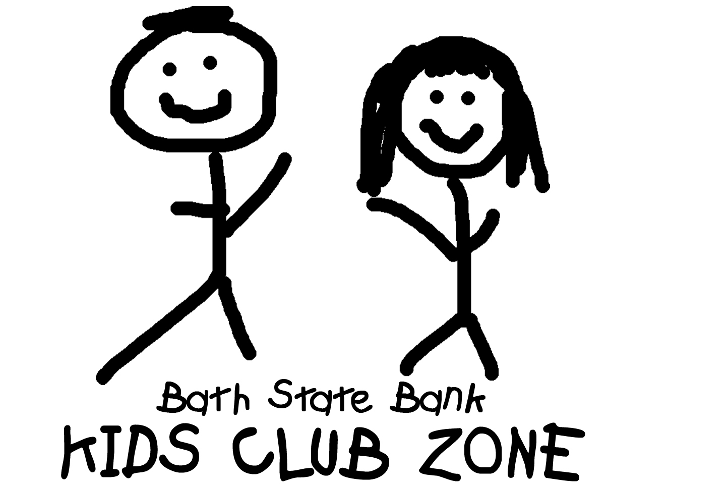 Stick-figure boy and girl