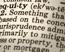 the word equity in a dictionary